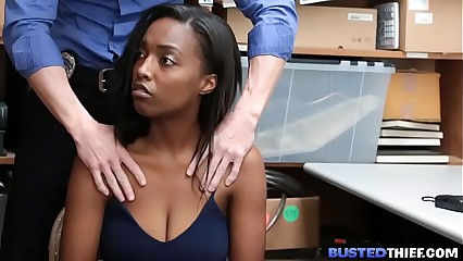 Black Teen Caught Stealing and Gets Fucked