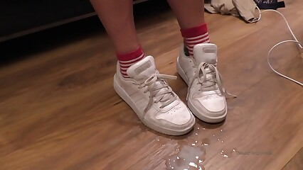 cum on feet and shoes cumpilation cumshot compilation YummyCouple