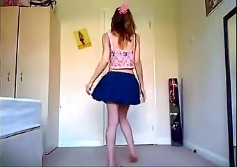 Sexy Girl Dance Sexy Mini Skirt