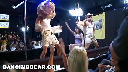 DANCING BEAR - Male Strippers Sling Dick For Horny Ladies At Wild CFNM Party