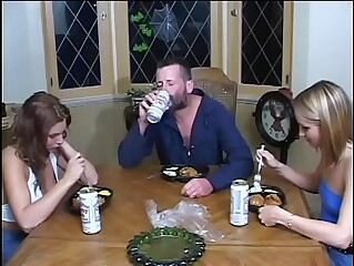 Wife save a woman and do DP with her husband and a drunk guy.