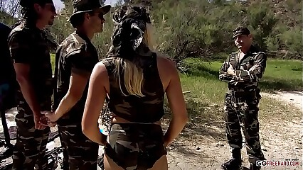 Pornstar Diana Gold DP from Two Soldiers Near The Sea HD