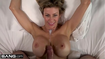 BANG Real MILFs  Alexis Fawx flashing & sucking cock pooside