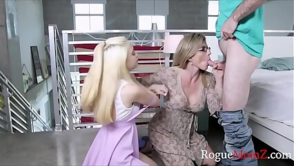 Jealous mom takes r. on son and fucks him