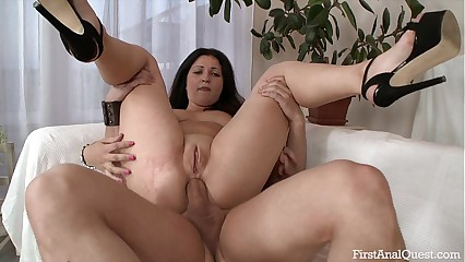 FIRSTANALQUEST.COM - ANAL SEX LEAVES AN INEXPERIENCED GIRL'S ASS GAPING OPEN