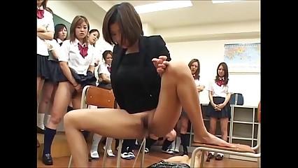 Japanese mistress ,teacher and student femdom piss
