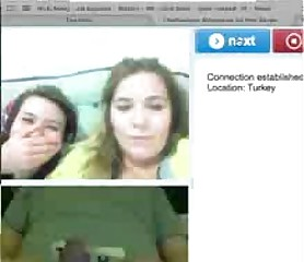2 hot turkish ladies laugh at my size on cam