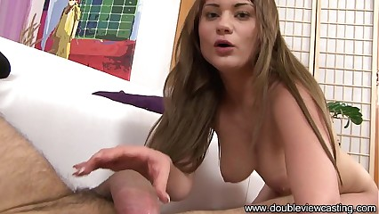 DOUBLEVIEWCASTING.COM - SCARLETT GETS HER BUTT PRICKED (POV VIEW)