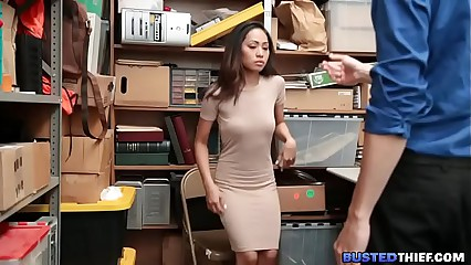 Tiny Asian Girl Fucked for Stealing