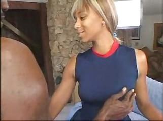 Ebony Cheerleader Hottie Gets Anal