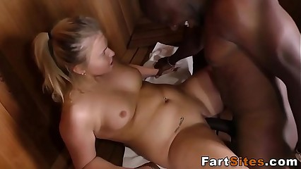 Chubby slut rides bbc