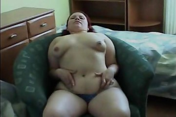 Chubby girl toying