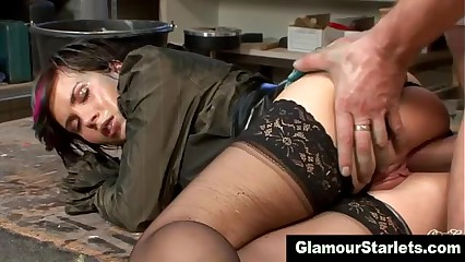 Glamorous fetish babe gets fucked