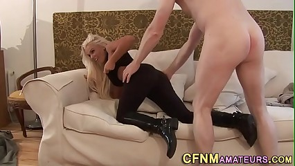 Clothed amateur fucked