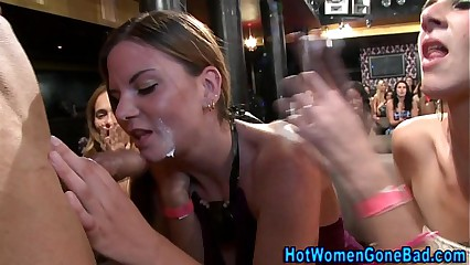 Cfnm ho gets cum facial