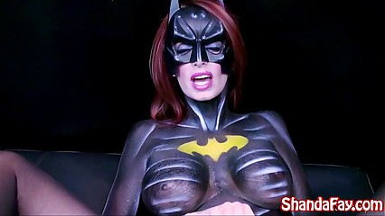 Canadian MILF Shanda Fay is BatGirl and Gets Off With Big Toy!