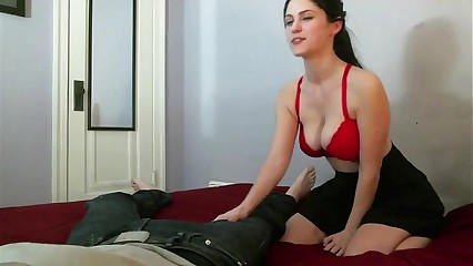 Hottie makes her man cum hard