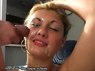 Triple Cumshot Facial